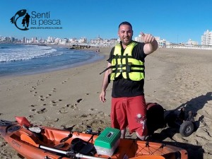 160203 KAYAKFISHING CERCA DE LA COSTA